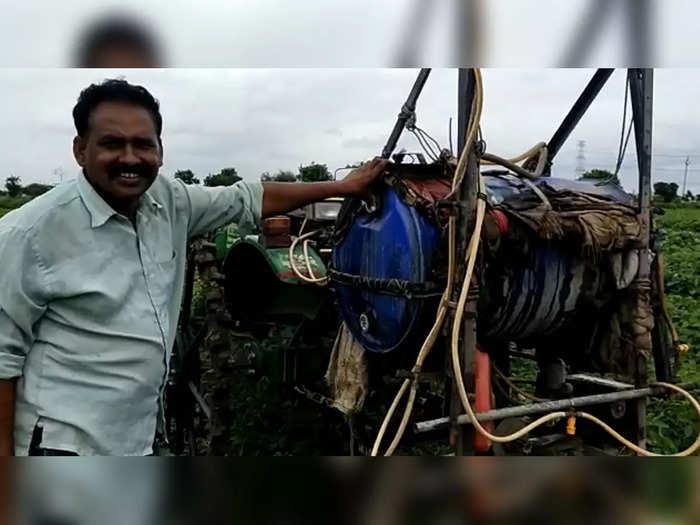 yavatmal farmer made jigaad spray machine sprays 2 acres in 20 minutes