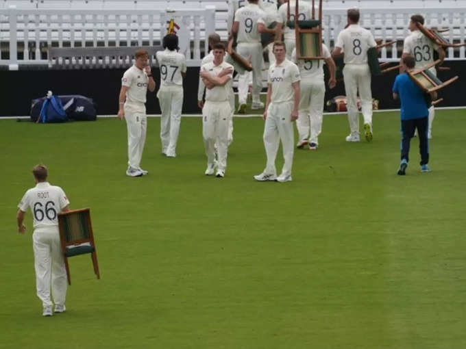 Wasim Jaffer Troll English Team: Captain Joe Root and team were seen carrying the chair from the field... Wasim Jaffer enjoyed sharing the picture