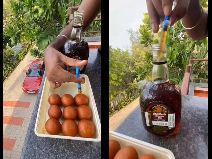 Rum injected Gulab Jamun