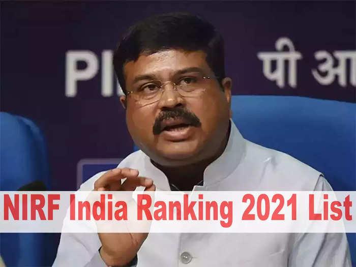 NIRF India Ranking 2021 List