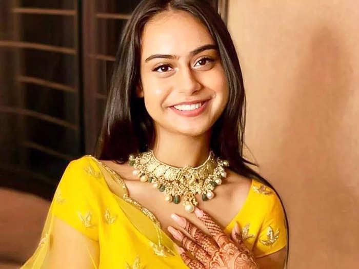 kajol-ajay devgn daughter nysa devgan looks stylish in powder blue lehenga for family wedding