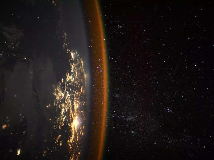 स्पेस स्टेशन से ली गई तस्वीर
