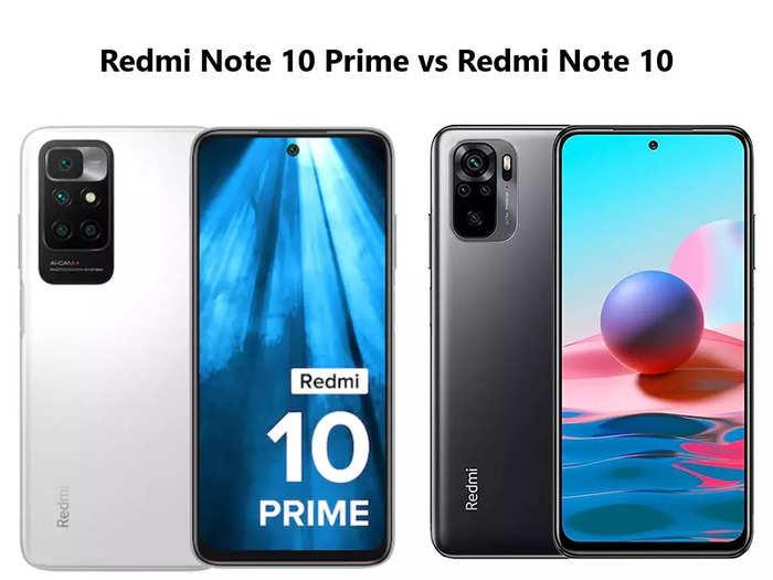 Redmi Note 10 Prime vs Redmi Note 10