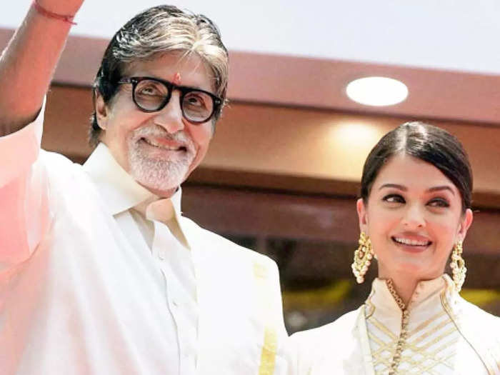 when amitabh bachchan helped aishwarya rai bachchanto adjust her dress at the ht most stylish awards