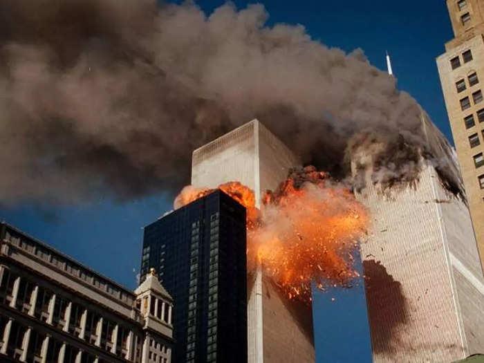 rare photos of 9-11 terror attack world trade center usa