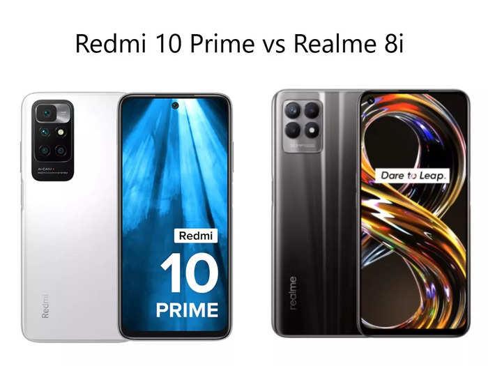 Redmi 10 Prime vs Realme 8i