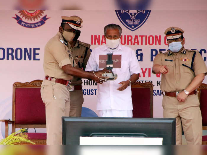 Thiruvananthapuram: Kerala Chief Minister Pinarayi Vijayan inaugurates a Drone F...