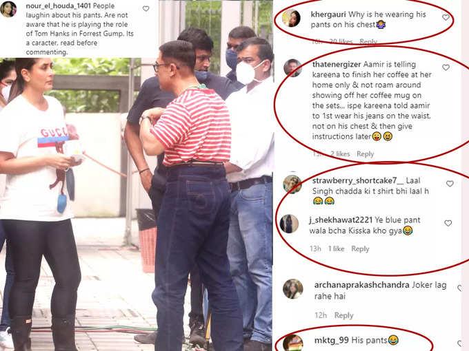 netizens laughing at Aamir Khan pant
