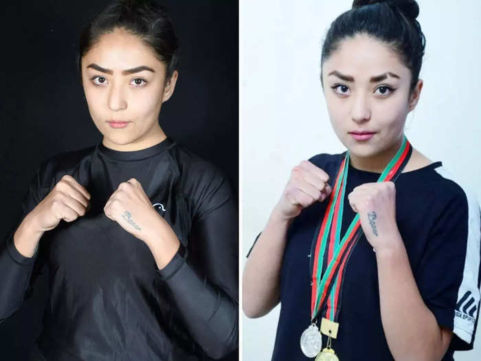 afghan boxer seema rezai forced to flee afghanistan due to taliban death threat