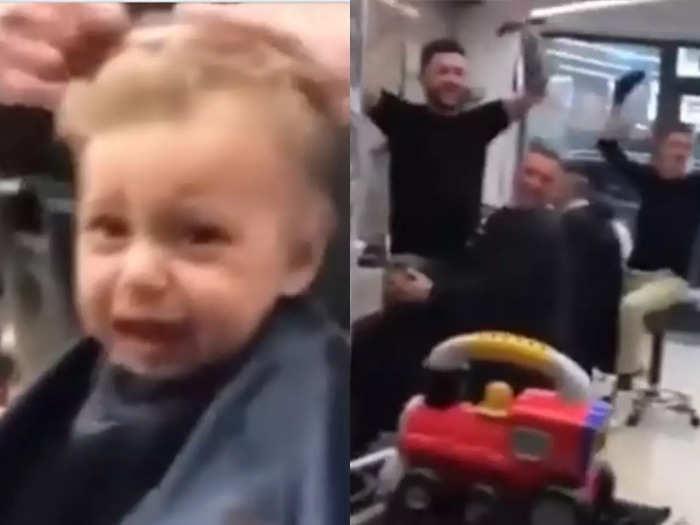 haircut angry kid video