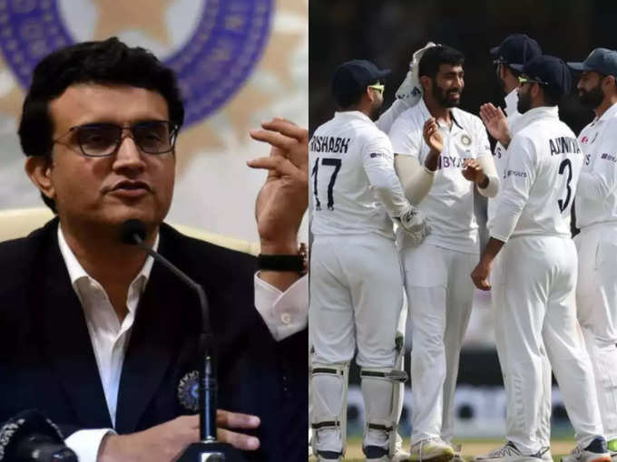 Sourav Ganguly and Team India