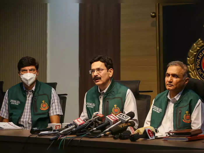 Spl CP of Delhi Police Neeraj Thakur briefs media