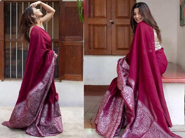 सिर्फ ₹845 में मिल रही है ₹3,999 की ये रानी पिंक साड़ी, देखने में भी हैं खूबसूरत