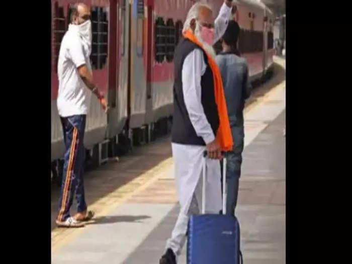 रेलवे स्टेशन पर PM Modi को देखकर हैरान हुए लोग, सच जानकर चौंक जाएंगे आप!