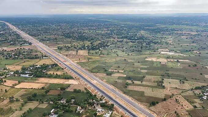 Delhi-Mumbai Expressway work progress in Gurugram