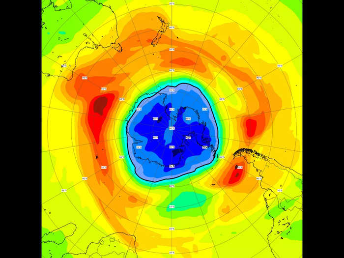 ozone hole over south pole is now larger than antarctica itself