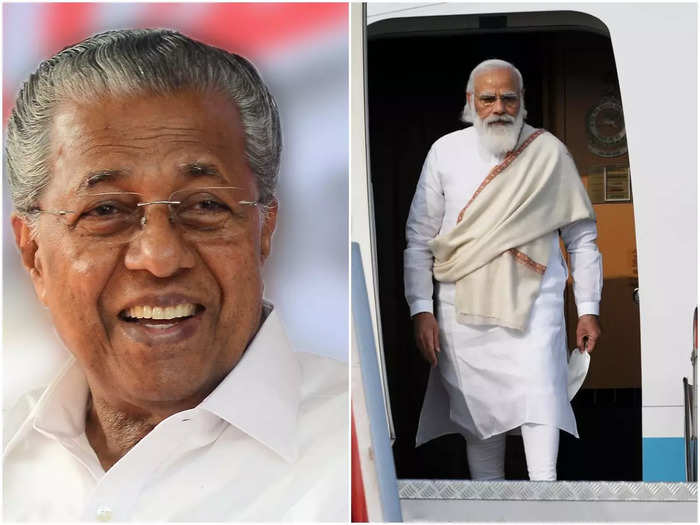 Narendra Modi and Pinarayi Vijayan