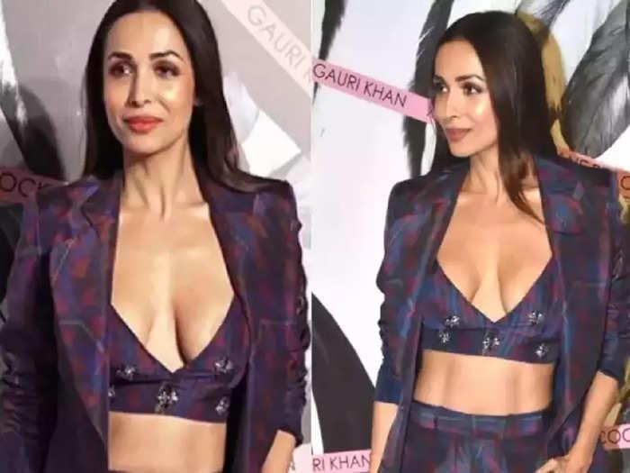 bollywood actress malaika arora wore purple co ord set dress bold and beautiful photoshoot viral