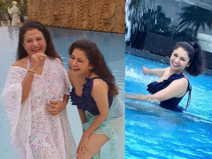 52 की उम्र में स्विमसूट पहन भाग्यश्री ने मचा दी सनसनी, करीना-आलिया को छोड़ इन्हें देख रहे लोग