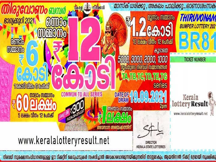 ഓണം ബമ്പർ ടിക്കറ്റ്. Photo: kerala Lottery