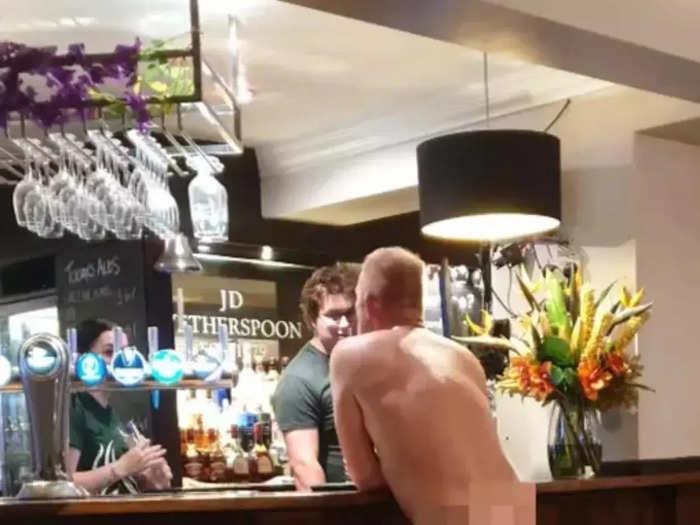 Naked man spotted at bar