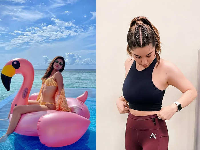 sara tendulkar is a stunner in workout clothes looks more attractive than bikini clad ananya panday