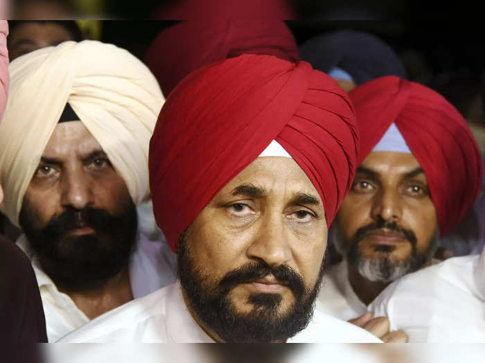 Chandigarh: Punjab CM Designate Charanjit Singh Channi after he was announced as...
