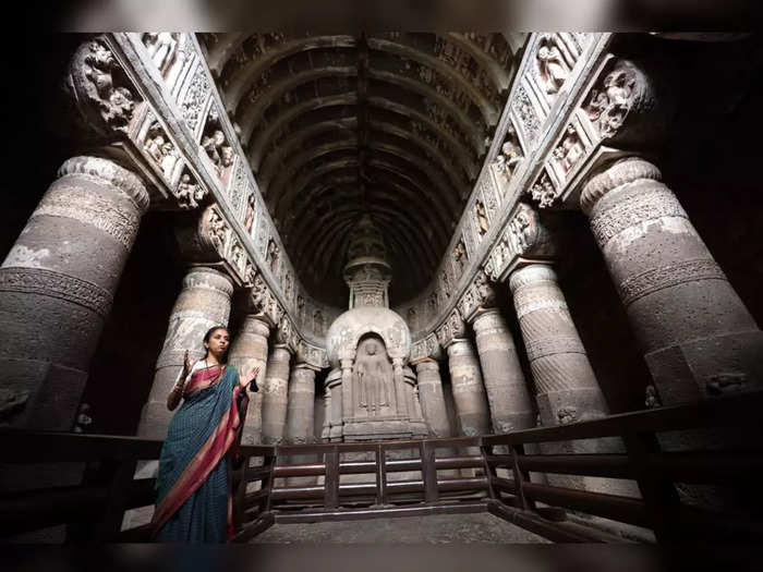 MP Supriya Sule was overwhelmed by the beauty of the world famous Ajanta and Ellora caves
