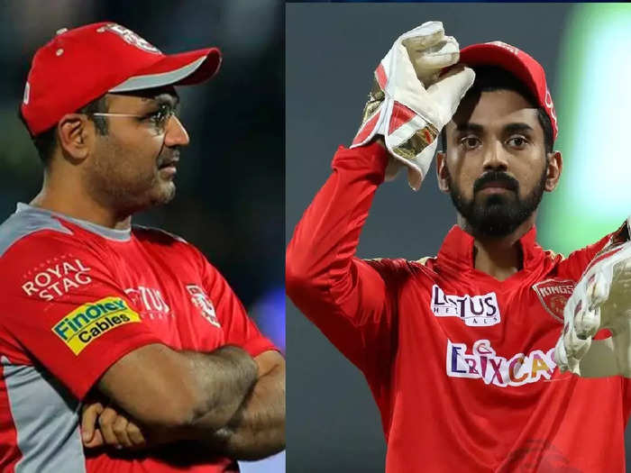 Virender Sehwag and KL Rahul IPL
