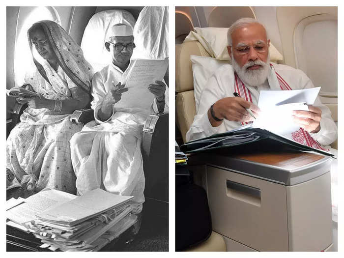 pm modi shares photo from the plane going to america why people talking about lal bahadur shastri