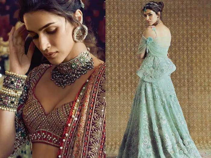 kriti sanon looks drop dead gorgeous in sequined saree by manish malhotra