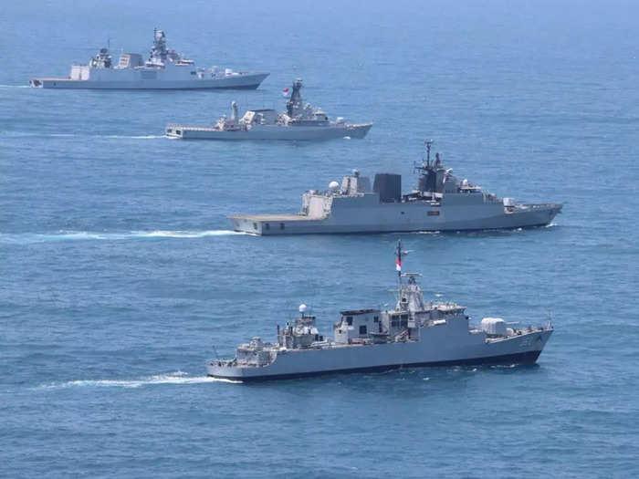 exercise samudra shakti, india indonesia naval exercise at sunda strait, chinese submarines in indian ocean