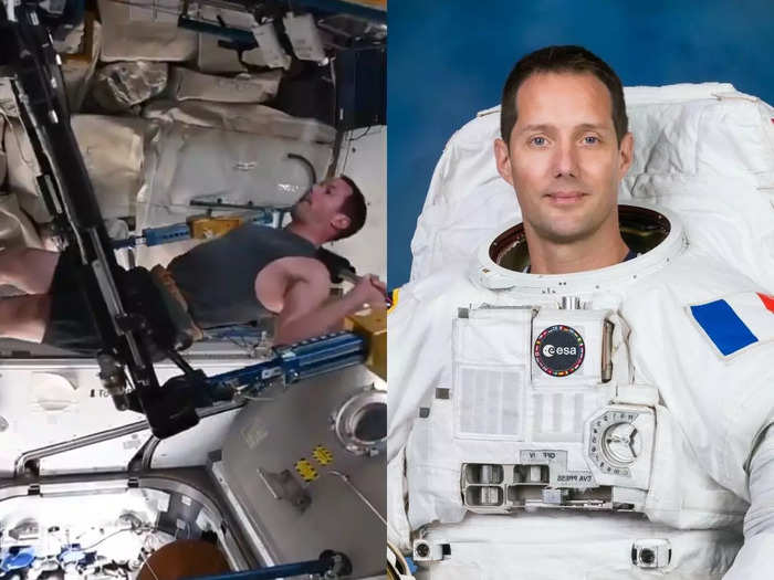 astronaut thomas pesquet posts workout video from space station and becomes fitness inspiration for millions