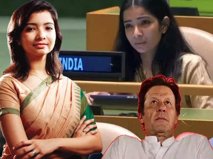 who is sneha dubey first secretary of india at united nations general assembly responding to imran khan