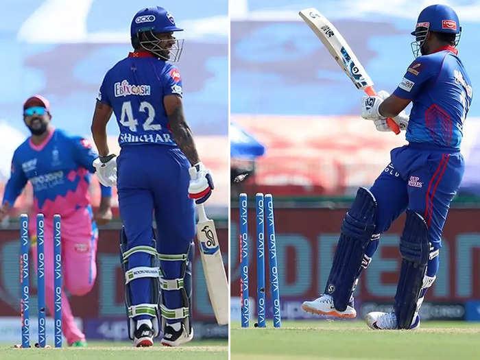 Dhawan-Pant Played On: शिखर धवन और ऋषभ पंत खुद ही स्टंप्स में मार बैठे गेंद, यूं हुए अपनी गलती पर आउट