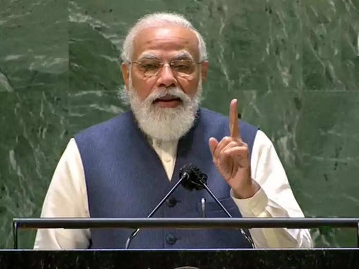 narendra modi in us unga speech, pm modi attacks on pakistan taliban on terrorism as political tools, china on covid