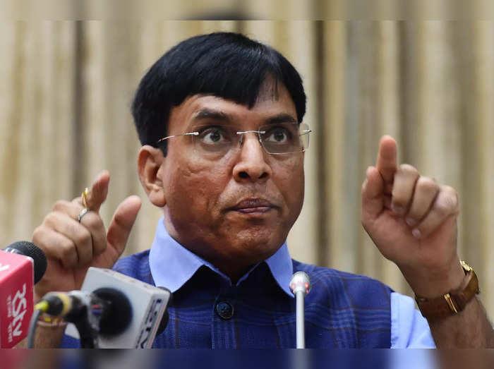 New Delhi: Union Health Minister Mansukh Mandavia addresses during Sensitization...