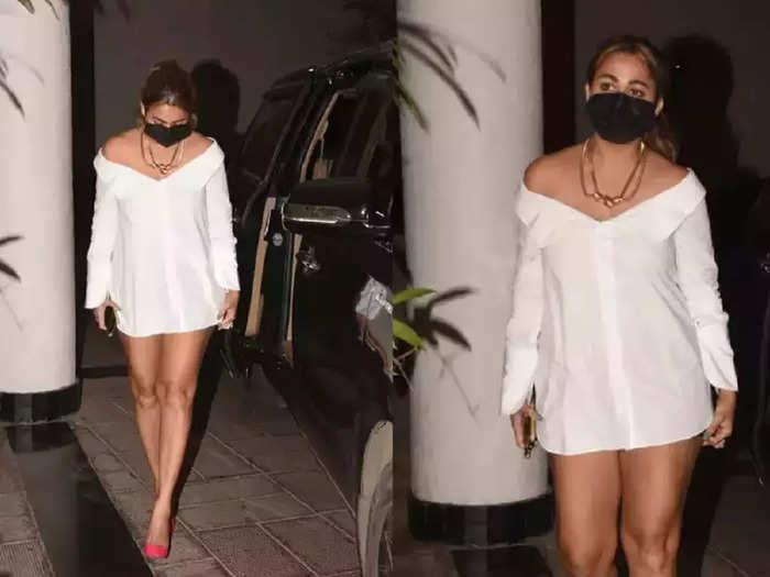 bollywood actress amrita arora in short shirt dress see her bold and hot party look