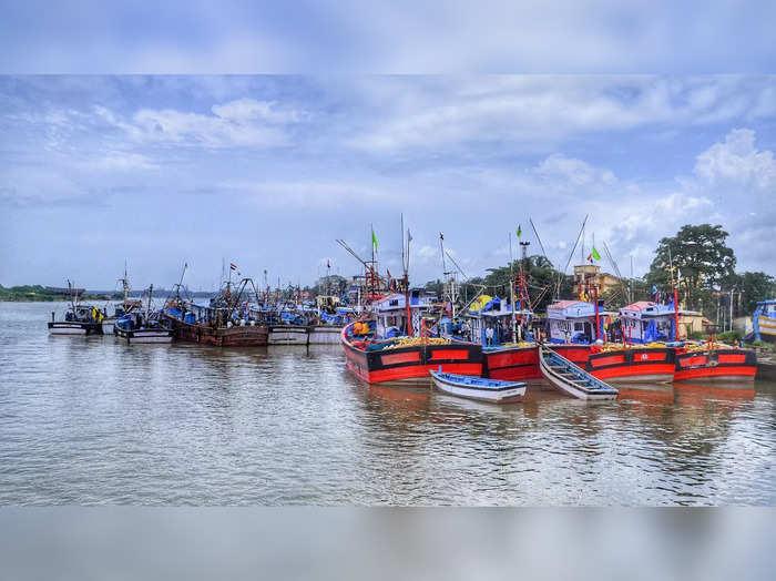 Mangaluru: Anchored fishing boats at old port in Mangaluru. (PTI Photo)(...