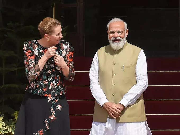 डेन्मार्कच्या पंतप्रधान मेट फ्रेडरिक्सन भारत दौऱ्यावर