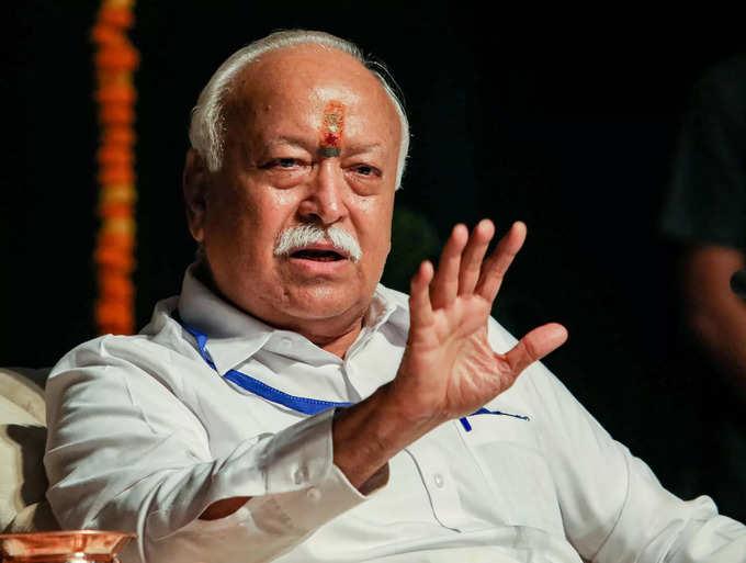 Jammu: Rashtriya Swayamsevak Sangh Chief Mohan Bhagwat during a seminar at Gener...