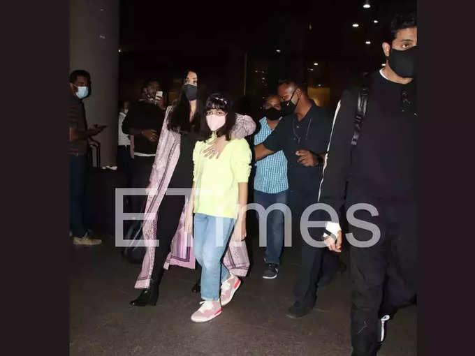 Aishwarya Rai Aaradhya and Abhishek returned to Mumbai