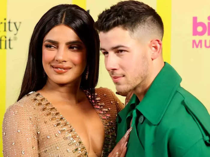actress priyanka chopra and her husband nick jonas fashionable and stylish look at cannes film festival