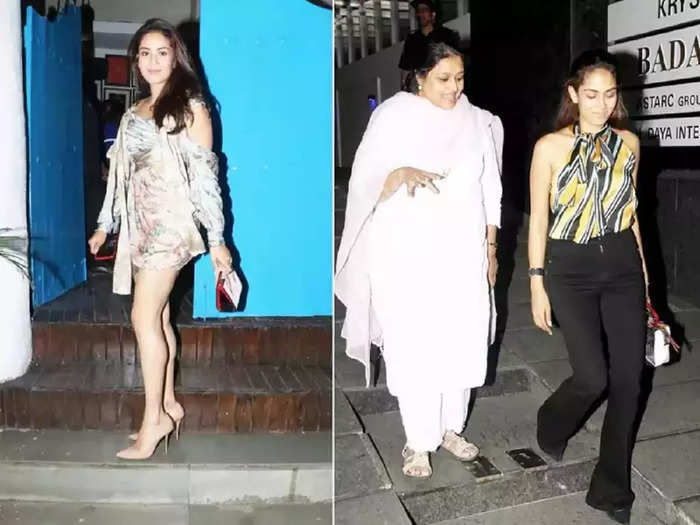 actor shahid kapoor wife mira rajput wore bold halter neckline top for family dinner party