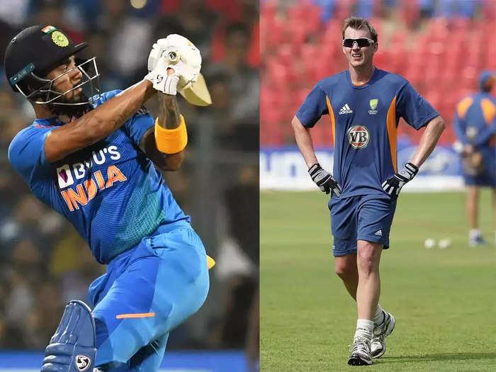 KL Rahul and Brett Lee 2021