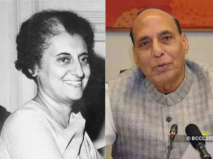 rajnath singh hails former prime minister indira gandhi